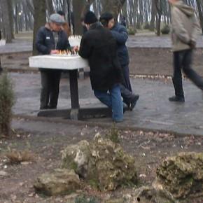 Vieillards jouant au jeu d'échecs. Crédit photo : Mamady K.
